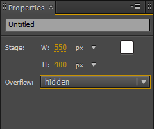 Adobe Edge élément Stage