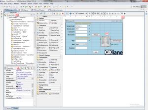 Description de l'interface WindowBuilder Pro