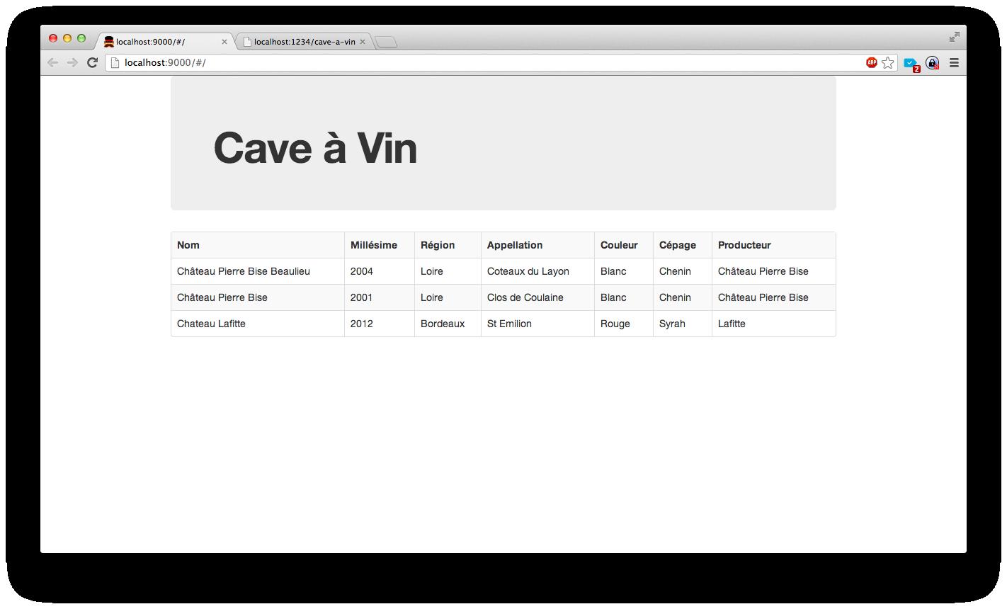 Web service cave-a-vin