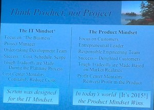 Think product, not project