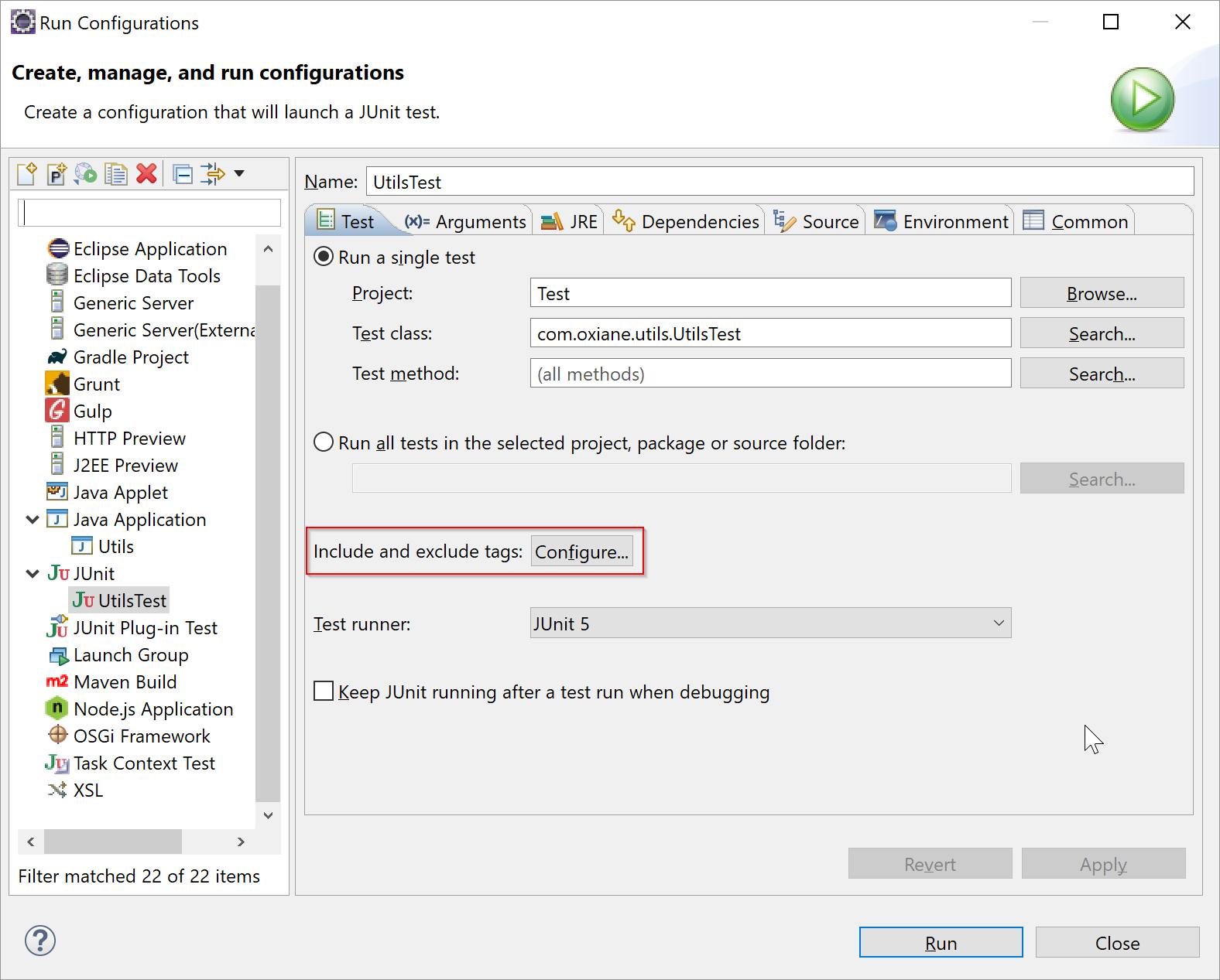 Eclipse Photon - un meilleur support de JUnit 5 et des tests - Sur